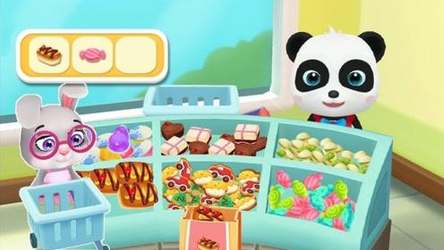 小兔子开车来到超市,购买一大堆食物,遇到自动结账机却尴尬了!