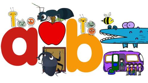 快乐英语:字母学习A和B英语单词英语发音