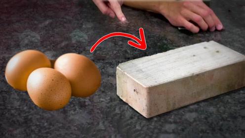实验:用蛋壳能制成砖块吗?小哥亲测,结果傻眼了!