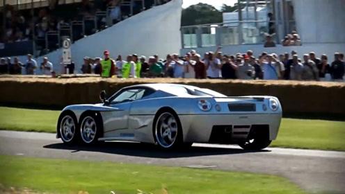 造型炫酷的跑车,采取6轮设计,过弯性能十分强大