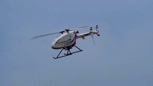 搭载中国产激光雷达系统的无人直升机
