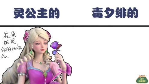 灵公主的化妆品vs毒夕绯的化妆品,这就是毁容的原因,环境很重要