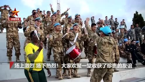 优秀 维和军营里8国篮球赛 中国队夺冠