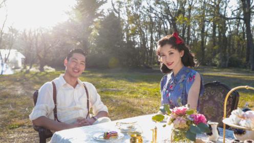 超甜!林志玲和老公MV花絮照曝光,两人躺在草地上深情对视