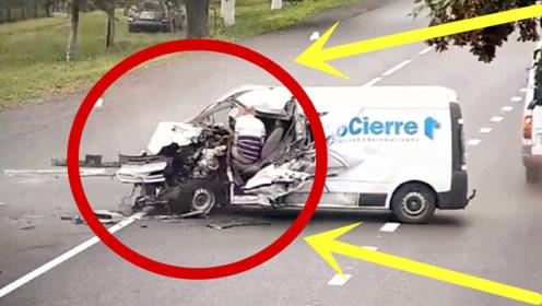 小货车马路逆行,2秒后车毁人亡,监控拍下惊魂瞬间!