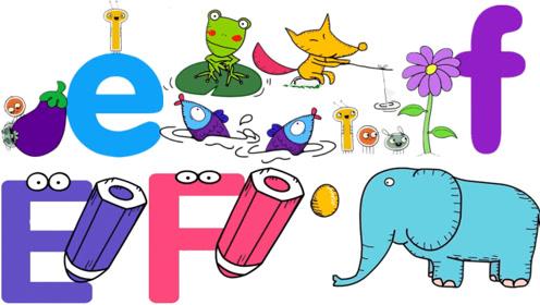 快乐英语:字母英语单词学习字母E和F,书适优阅儿童英语
