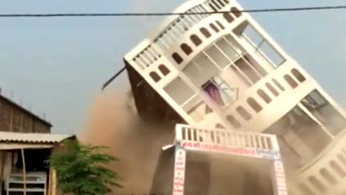 印度3天打造10层楼,连地基都没有,刚准备庆功就出现了意外