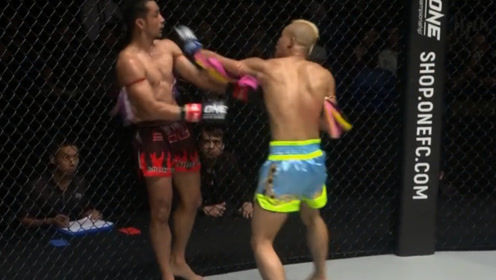 昨晚!王俊光火拼泰拳老将!这次直接爆发了,连续重拳猛攻!