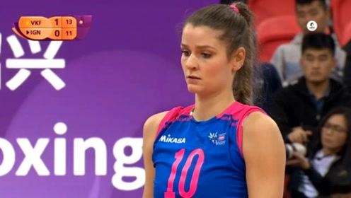 2019女排世俱杯铜牌战,瓦基弗银行VS诺瓦拉,第二局回放