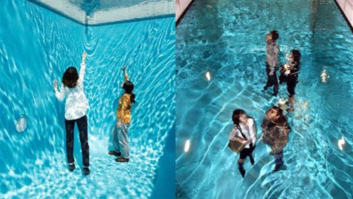世界上最神奇的游泳池,人在水下不仅能呼吸,连衣服都不会湿
