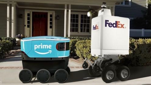 可以自动送货的机器人,能自动识别路线,省时省力还省心