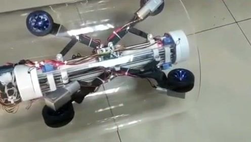 在管道中行进的小车,姑且称为管道机器人吧