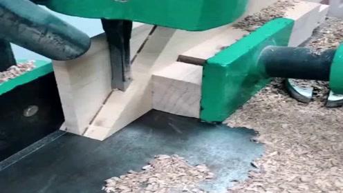 这种木工用的机器,真是太省事了,效率是真的高!