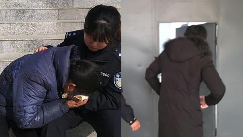 60岁母亲送网逃儿子自首,手铐戴上儿子一身轻松,母亲失声痛哭