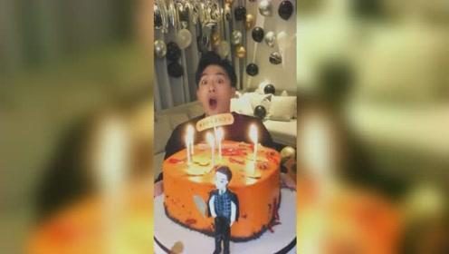 孙艺洲36岁生日,蜡烛吹到缺氧也不灭:我的嘴不是打火机