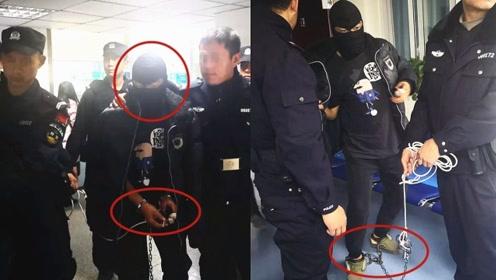 实拍:四川命案嫌犯戴脚镣蒙面被抓 因婚姻纠纷杀害妻子表哥