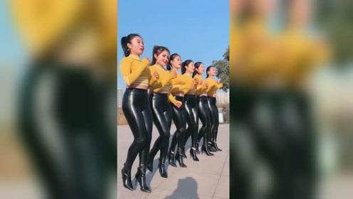 还是穿皮裤跳舞有味道,高跟鞋真霸气
