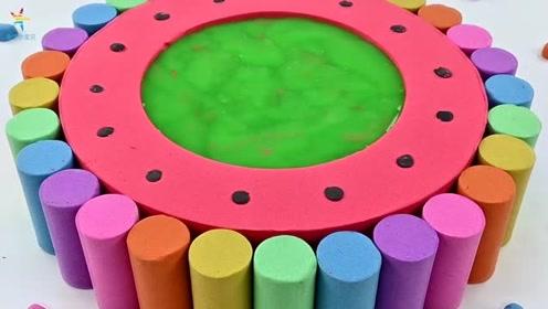 彩虹金鱼 宝宝魔力太空沙手工制作玩具