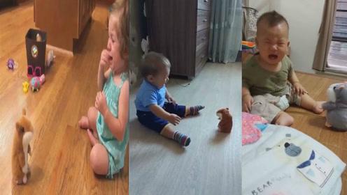 宝宝被玩具吓哭,拍视频得一定是亲妈