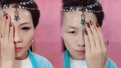 化妆能可怕到什么程度?一个人扮演整个娱乐圈