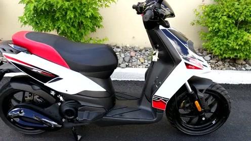 省油代步利器!2017 阿普利亚Motard 50小型踏板摩托车