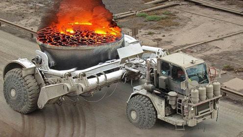 什么卡车背着火焰锅?运输百吨1300°C高温材料,一般司机不敢开
