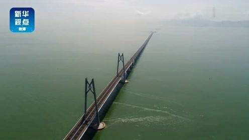 超美!一桥飞架港珠澳