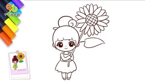 儿童卡通简笔画:阳光活泼的洛宝贝