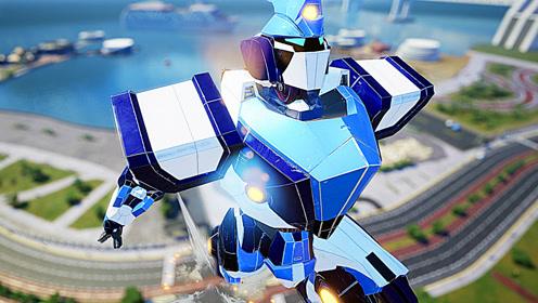 屌德斯&小熙 巨型机器人乱斗 莫名有一种钢铁奥特曼的既视感