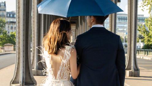 贾静雯再晒婚纱照秀幸福 与老公挽手漫步甜蜜爆表