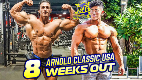 还有8个星期,塞迪克和史蒂文曹两人努力备战2018阿诺德美国赛