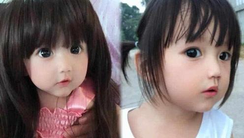 女儿因太美被怀疑是假人 宝妈拿家人照片力证