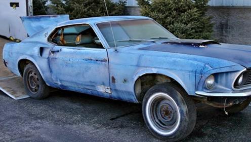 1969年福特野马,快速返回修复,启动一下试试看