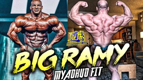 2届阿诺德冠军埃及健美大将大拉米背部训练,他没有放弃