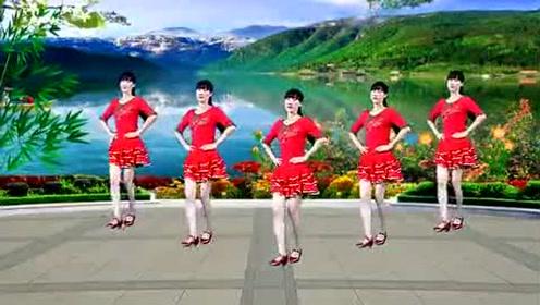 广场舞《小小新娘花》歌好听舞好看,32步简单易学!