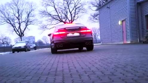 """新款A7改装""""四出排气""""和气动悬挂1"""