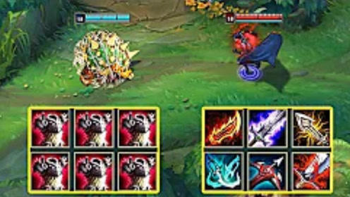 LOL:六反甲的龙龟对战混伤流薇恩,这场战斗很强