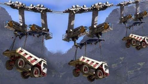 卡车被吊在300米高空作业,第二天,司机就辞职不干了!