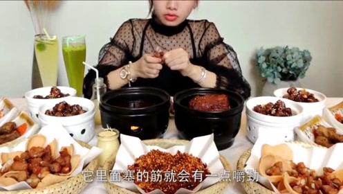 """吃播大胃王:密子君为我们带来""""排骨宴"""",排骨还能这样吃"""