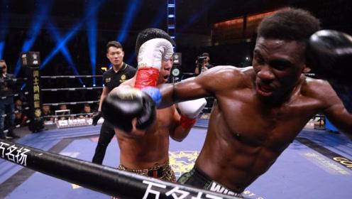 黑人拳王又怎样!来华照样惨被中国怪物KO,镜头记录精彩瞬间