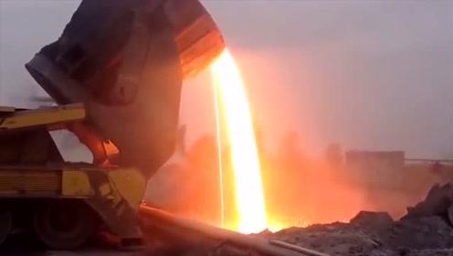 科技探秘:高炉铁水渣不回收利用太浪费了!直接倒掉非常污染环境