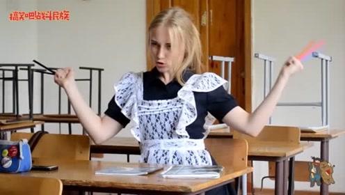 """在课堂上扮演""""金刚狼"""" 俄罗斯女孩这下出名了"""