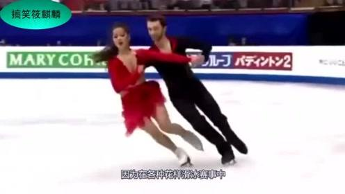花滑女神比赛中上衣脱裂,满脸羞红面带尴尬,男搭档的反应太机智