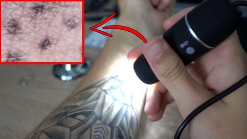 纹身真的特别脏?小哥亲自用显微镜一探究竟,结果看完瞬间反胃!