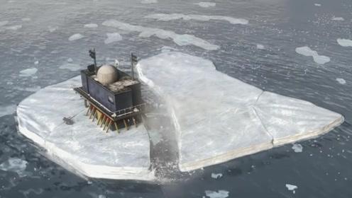 人类遭深水怪攻击,冰面碎裂房子要下沉,他们用最危险的方法自救