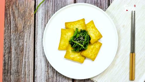 菠菜豆腐加上它,清香美味,健康营养,用来下饭最合适