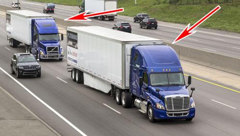 老外研发驾驶跟随技术,一个司机开两车,后车自动跟着前车跑