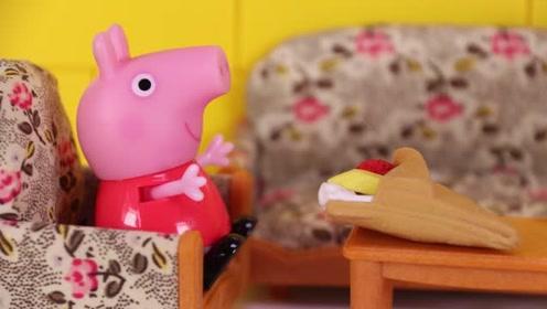 小猪佩奇不喜欢数学课 她找个借口说自己肚子疼回家了 玩具故事