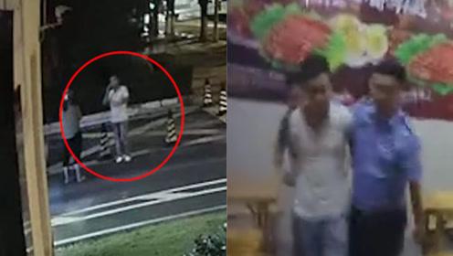 戏精男派出所门口冒充民警骗500元打点费 吃烧烤时被当场抓获