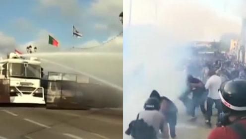 高压水炮、催泪弹全上!法国反G7集会,警方直接下了重手